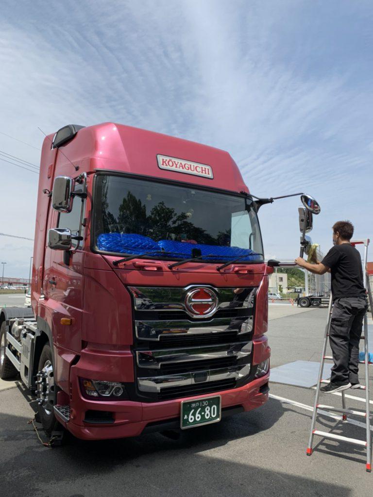 トラクター,洗車中,高野口運送,和歌山,橋本,兵庫,三木,ドライバー,運輸