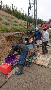 関東営業所の井戸掘削