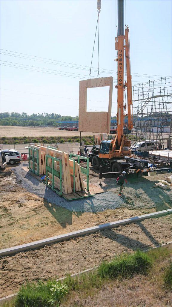 高野口運送関東営業所建設中